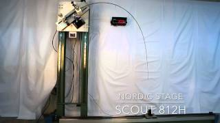 Nordic Stage Scout 812H Crash test - 30 lbs (12 kgs) power challenge