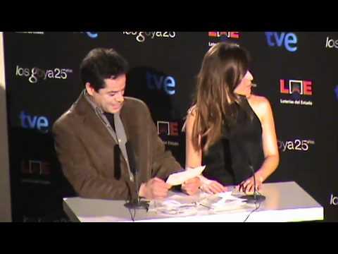Anuncio de los candidatos finalistas. Premios Goya 2011