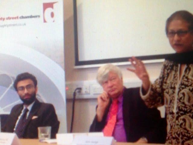 Asma Jahangir,  Zimran Samuel and Geoffrey Robertson QC