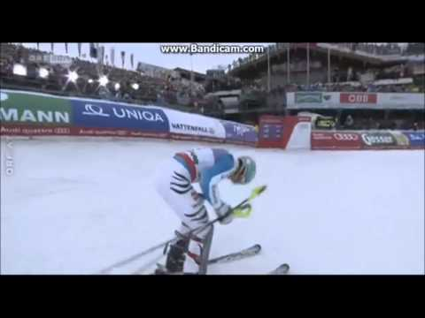 WM Slalom 2013 Schladming ! MARIO MATT ( 3 ) , Felix Neureither ( 2 )  und MARCEL HIRSCHER ( 1 )