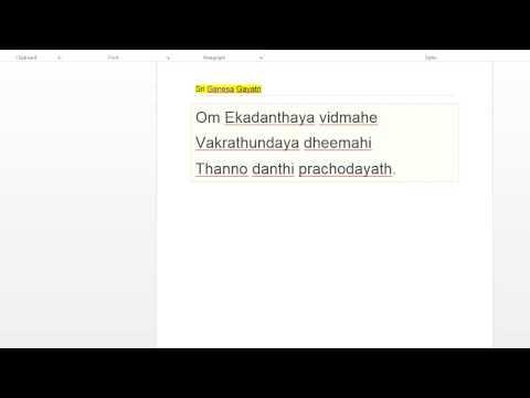 Ganesh(Ganapati) Gayatri Mantram: Ekadanthaya vidmahe  Vakrathundaya dheemahi