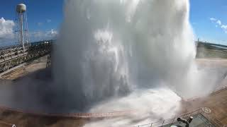 NASA Tests SLS Launch Pad Water Deluge System