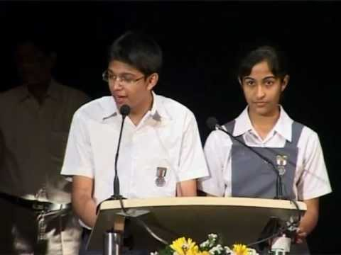 Aditya Mehendale- Delivering a vote of thanks to Dr A.P.J. Abdul Kalam