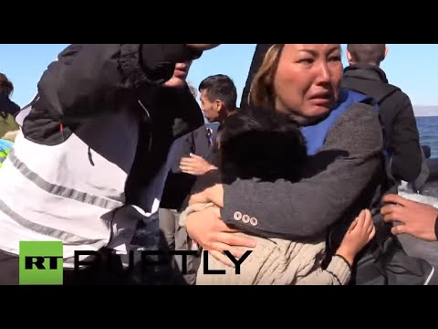 Greece: Refugee boats arrive on Lesbos as migrant numbers swell