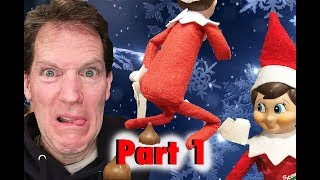 Elf on the Shelf!  Ewwwww!  💩 24 days of CRAZY Shelf Elf Antics! 🎄... Part 1