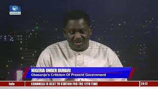 Presidency Reacts To Obasanjo's Claims, Says They Are His Opinion  Sunday Politics 