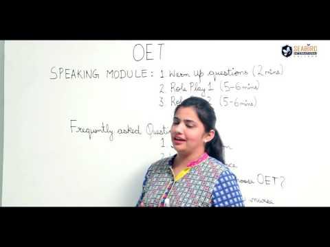 OET Online Coaching   OET Speaking Module Tips