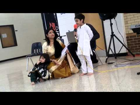 Purbasha 2013 Saraswati Puja - Kinjal Reciting prosno By Rabindranath Tagore video