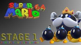Super Mario 64 - Stage 1: Bob-Omb Battlefield Part 1