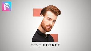 PicsArt Letter Portrait | Picsart logo design | How to make logo in picsart