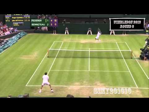 Roger Federer vs Julien Benneteau Wimbledon 2012 R3
