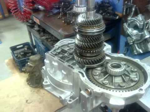 How To Rebuild Automatic Transmission >> transmission rebuild vw 02S 6 speed - YouTube