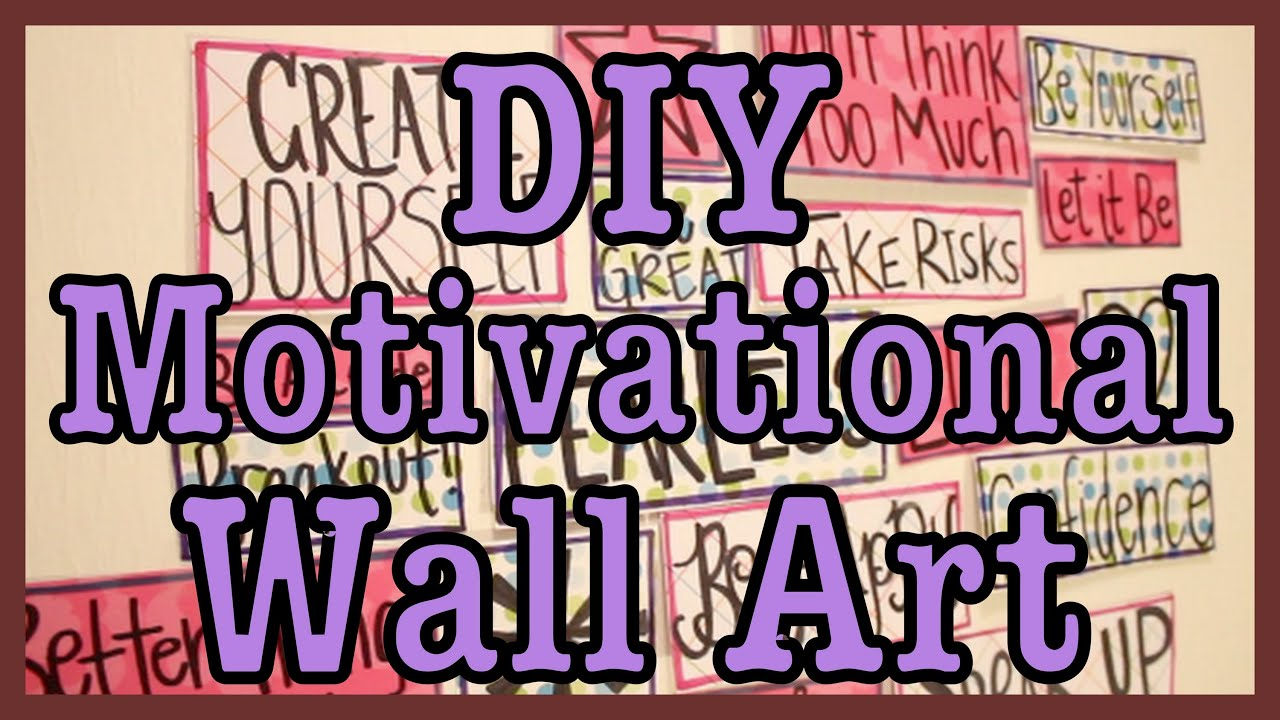 diy motivational wall art youtube. Black Bedroom Furniture Sets. Home Design Ideas
