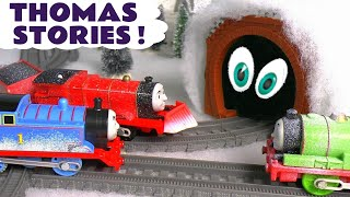Thomas The Tank Engine Pranks with a Monster In The Tunnel Toy Train Story TT4U