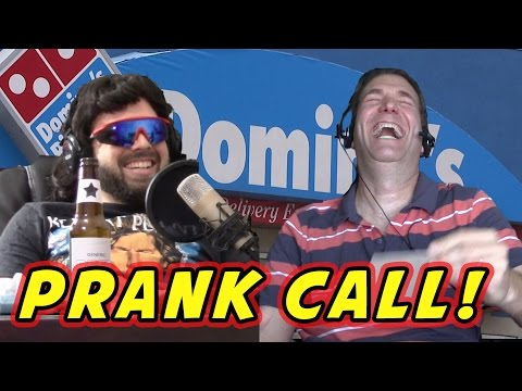 PRANKING DOMINO'S PIZZA! (Three Halves phone call prank)
