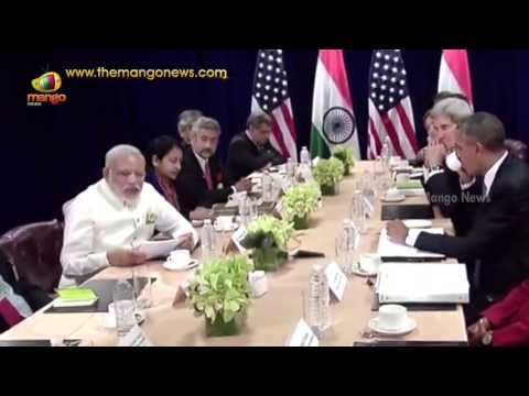 Barack Obama Meets PM Modi | Bilateral Meeting at United Nations Head Quarters | Mango News