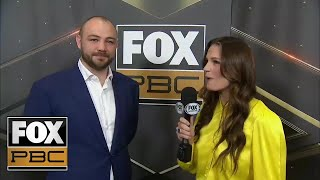 Adam Kownacki talks with Heidi Androl before his press conference | INTERVIEW | PBC ON FOX