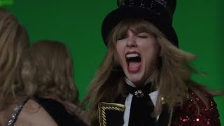 """Taylor Swift FREAKS OUT While Filming Her """"Former Selves"""" in Music Vid"""