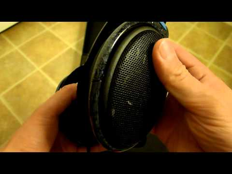 Sennheiser HD-600 headphones unboxing