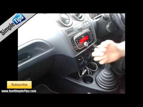 Radio Removal Ford Fiesta (2002-2009) Sony System   JustAudioTips