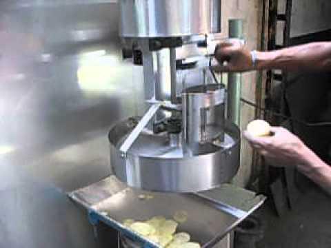 Maquina para cortar papas en rodajas