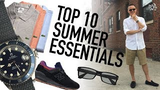 Top 10 Men's Summer Style Essentials - $10 to $200 - Stay Dapper & Cool No Matter How Hot It Gets!