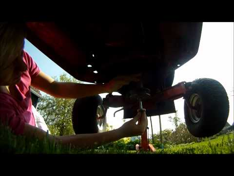 How to: pulley swap your lawn mower engine the easy way. (20 min job)