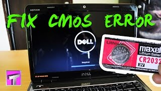 Dell Inspiron n4010 CMOS Battery Replacement (Solve Cmos Checksum Bad Error)