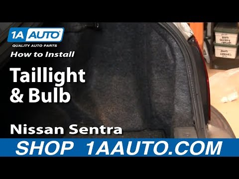 How To Install Replace Taillight and Bulb Nissan Sentra 02-06 1AAuto.com