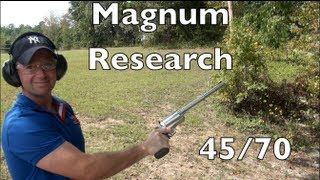 Magnum Research .45/70 Revolver Shooting