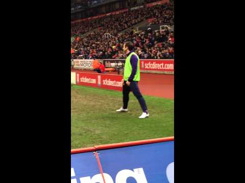 Stoke City Fans tormenting Frank Lampard