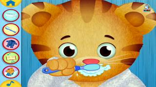 DANIEL TIGER's Day & Night App Gameplay | Daniel Tiger's Neighborhood Bathroom Routines Brush Teeth