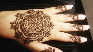 Mandala Flower Henna - Simple Arabic Floral Mehendi Design