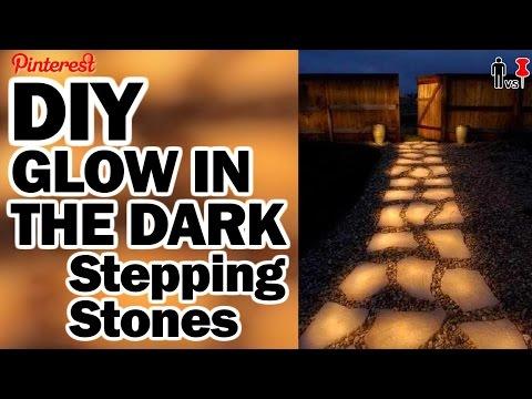Glow in the Dark Stepping Stones - Man Vs Pin - Pinterest Test #57