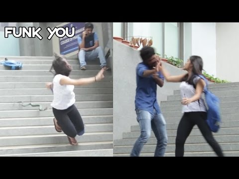 Girl Slaps a Guy for a Prank (Insect/Snake Prank) Funk You (Pranks In India)