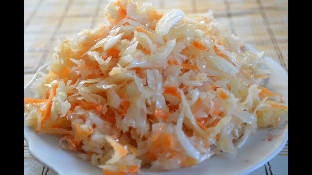 рецепт быстрого приготовления квашеной капусты