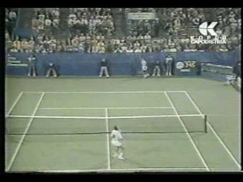 Lendl vs Wilander USO 88 Final (best point by Ivan)4/5 Video