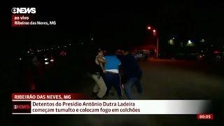 مراسلة قناة جلوبو ميناس نيوز تتعرض للضرب على الهواء مباشرةً