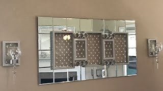Dollar Tree Diy |  Glam Wall Mirror And Sconces
