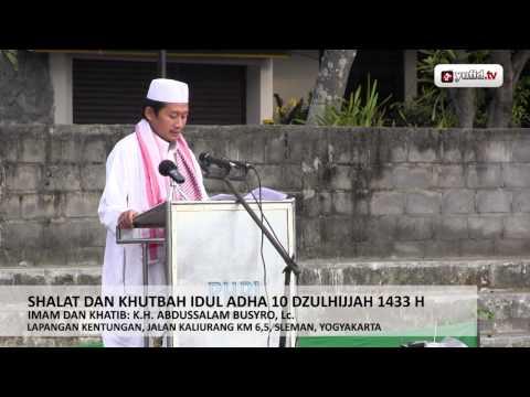 Video Sholat Dan Khutbah Idul Adha 1433 H / 2012 - K.H. Abdussalam Busyro, Lc.