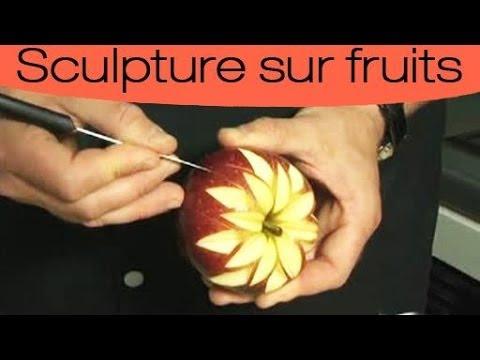 d coration culinaire sculpter une rosace en toile sur un fruit youtube. Black Bedroom Furniture Sets. Home Design Ideas