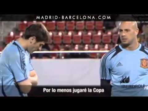 La charla entre Iker Casillas y Pepe Reina