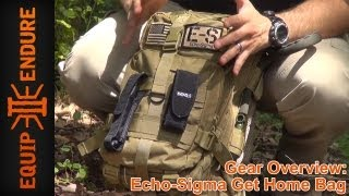 Echo Sigma Emergency Get Home Bag Overview, by Equip 2 Endure