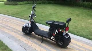 Citycoco EEC COC with two removable battery 120km+ from Rooder city coco Harley scooter supplier