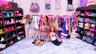 A HUGE BARBIE WARDROBE 🎀 COLLECTION OF SHOES, CLOTHES BAGS 🎀 NEW ROOM 🎀 story with dolls 🎀 4K