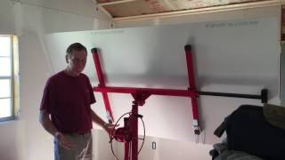 Troy DPH11 Drywall Lift Hoist in Action