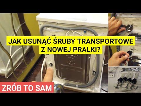 Pralka - Usuwanie śrub transportowych - instrukcja