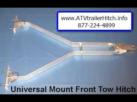 ATV Trailer Hitch Snowmobile Trailer Sled Hitch for Clam or Otter (02:30)