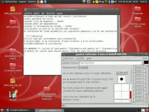 Ubuntu: Configurar, calibrar e instalar CUALQUIER joystick en Ubuntu