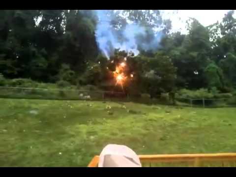 Взрыв линии электропередач / The explosion power lines